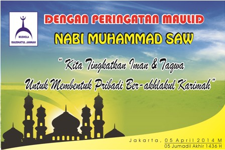 Backdrop Maulid Nabi Musholla